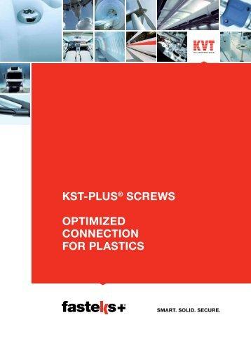 FASTEKS+ KST-PLUS® Screws for plastics | KVT-Fastening
