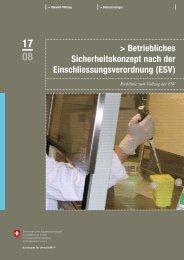 Betriebliches Sicherheitskonzept nach der ... - Küng Biotech & Umwelt