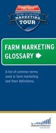 FARM MARKETING GLOSSARY