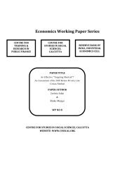 Economics Working Paper Series - Centre for Studies in Social ...