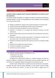 BTS Maintenance Industrielle - Espace Info Jeunes