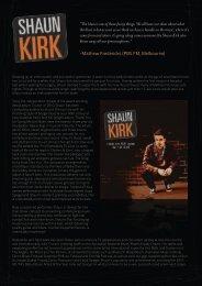 Shaun Kirk Bio - Voice FM