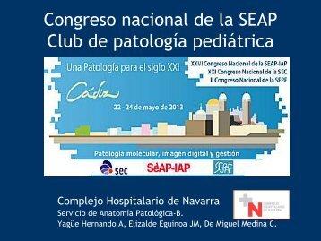 Congreso nacional de la SEAP Club de patología pediátrica