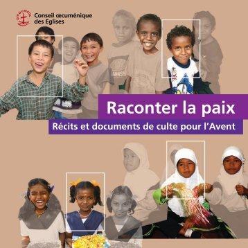 """Texte complet du livret """"Raconter la Paix"""" (pdf) - Décennie """"vaincre ..."""