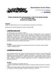 Associazione Incroci Onlus - Coordinamento Comasco per la Pace