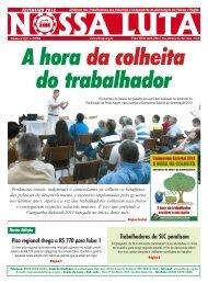 Piso regional chega a R$ 770 para faixa 1 Trabalhadores da SLC ...