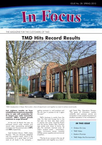 In-Focus - TMD Technologies Limited