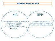 Maladies Rares et HPP - SFEAP