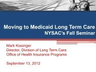 Moving to Medicaid Long Term Care - New York State Association of ...