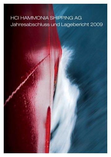 HCI HAMMONIA SHIPPING AG Jahresabschluss und Lagebericht ...