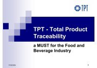 TPT - Total Product TPT Total Product Traceability - PROGIS ...
