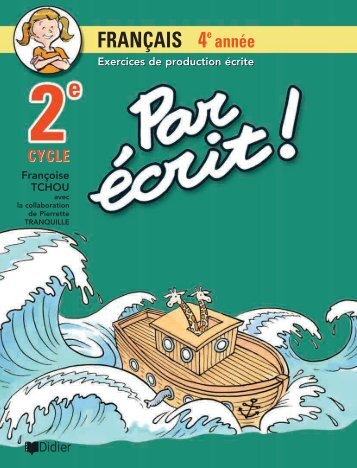 Consulter un extrait du cahier en pdf - Les Éditions Marcel Didier
