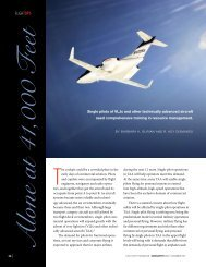Alone At 41,000 Feet - Human Factors Research and Technology ...