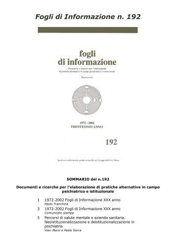 192 - Centro documentazione Pistoia