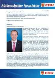 Rüttenscheider Newsletter - Ausgabe 02/2011 - CDU Ortsverband ...