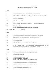 SEMESTERPROGRAMM SS 2011 - Salana Jenensis Jena