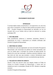 Procedimento Disciplinar - Conselho Português de Ressuscitação