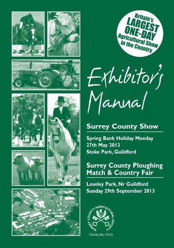 Download the trade manual here - Surrey County Agricultural Society