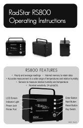 RadStar RS800 Operating Instructions - AccuStar Labs