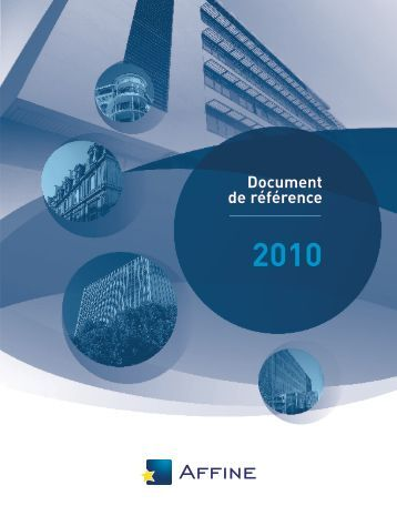 Document de référence 2010 - Affine