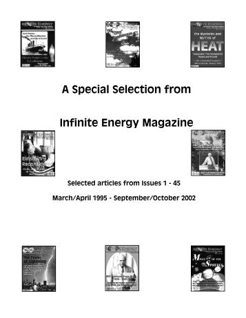 Selection of articles for pdf - Infinite Energy Magazine