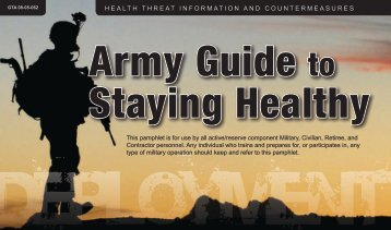 Army Guide to Staying Healthy - U.S. Army Public Health Command