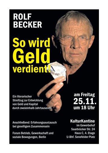 Einladung Lesung Rolf Becker
