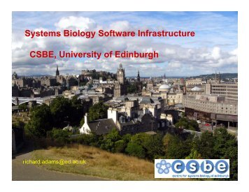 Systems Biology Software Infrastructure CSBE ... - BioModels.net