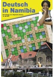 Deutsch in Namibia - Allgemeine Zeitung