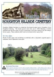 Hillside Cemetery Maths Trail - Houghton-le-Spring