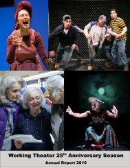 Working Theater 25th Anniversary Season