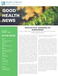 Good Health News - July 2015