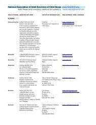 Alabama - National Association of Adult Survivors of Child Abuse