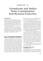 Groundwater and Surface Water Contamination from Resource ...