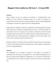 Rapport från studieresa till Iran 2 - 14 maj 2002 - RFSL
