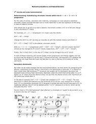 Reharmonizations and Substitutions - Jkornfeld.net