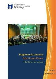 Descarca - Universitatea Naţională de Muzică
