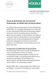 PRESSE-INFORMATION PRESS RELEASE - Schweizer Bauwirtschaft