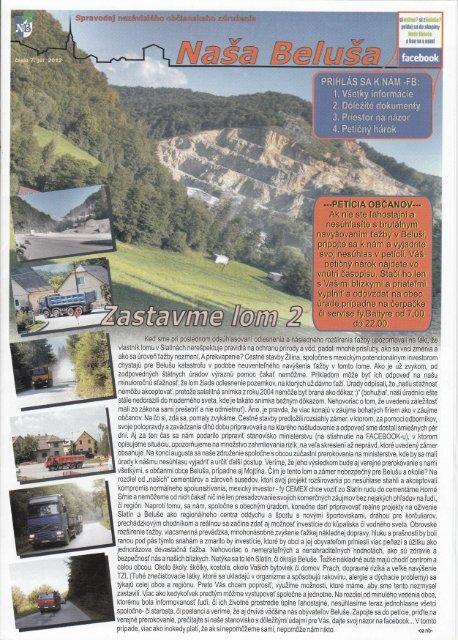 Naša Beluša 7/2012 v elektronickej podobe (pdf)