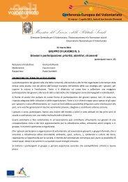 Giovani e partecipazione - Ministero del Lavoro e delle Politiche ...