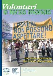 Volontari nel mondo-FOCSIV - Settimane Sociali dei cattolici italiani