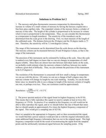 Solutions for the Problem Set 2