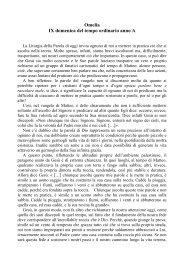 Omelia IX domenica del tempo ordinario anno A - Cuore e Mani ...