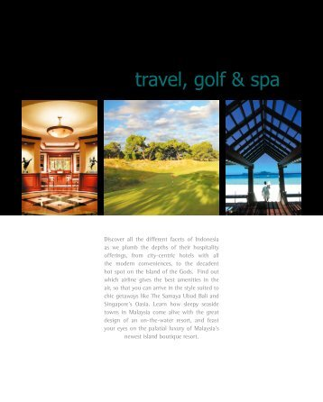 travel, golf & spa - Hospitality Asia Magazine