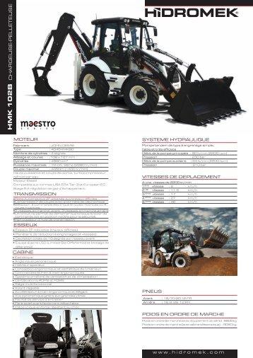 102 B Maestro série - Français Fiche Produit - Hidromek