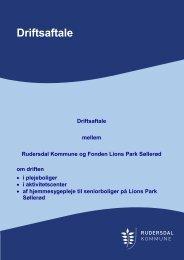 Driftsaftale - Rudersdal Kommune