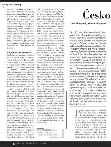 Česko jako satelit eurozóny.pdf - Mezinárodní vztahy