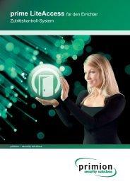 prime LiteAccess - primion Technology AG