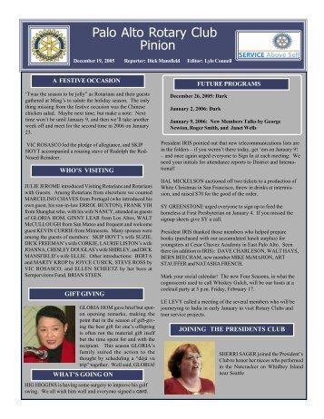 December 19, 2005 - Palo Alto Rotary