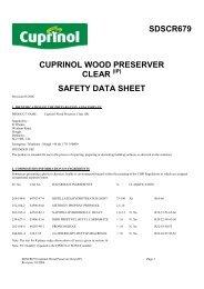 safety data sheet - Cuprinol